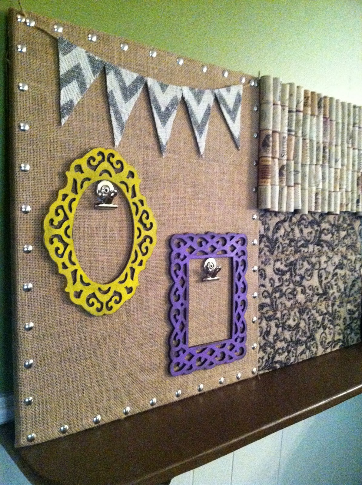 Burlap And Bananas Shabby Chic Diy Bulletin Board