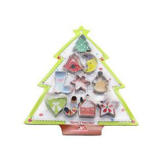 kit de cortadores de biscoitos de Natal