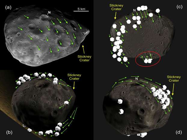 Study Suggests Mars Moon May Have Got Its Grooves From Rolling Stones