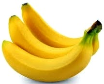 Foto de la fruta plátano de color amarillo