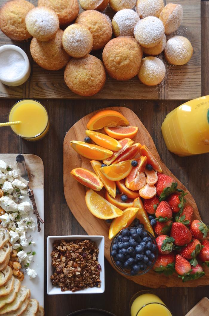 A Simply Orange Brunch Party Orange Muffins Orange Rose Mimosas