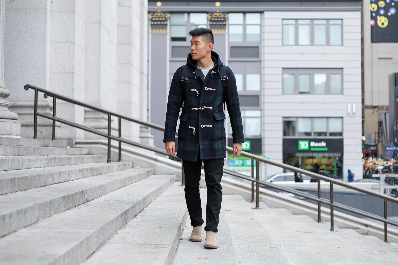 Levitate Style Blackwatch Toggle Coat | Winter Style