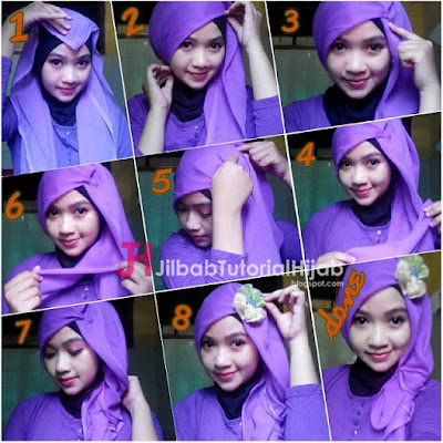 Tutorial Hijab Turban Segi Empat Simple Pesta Terbaru