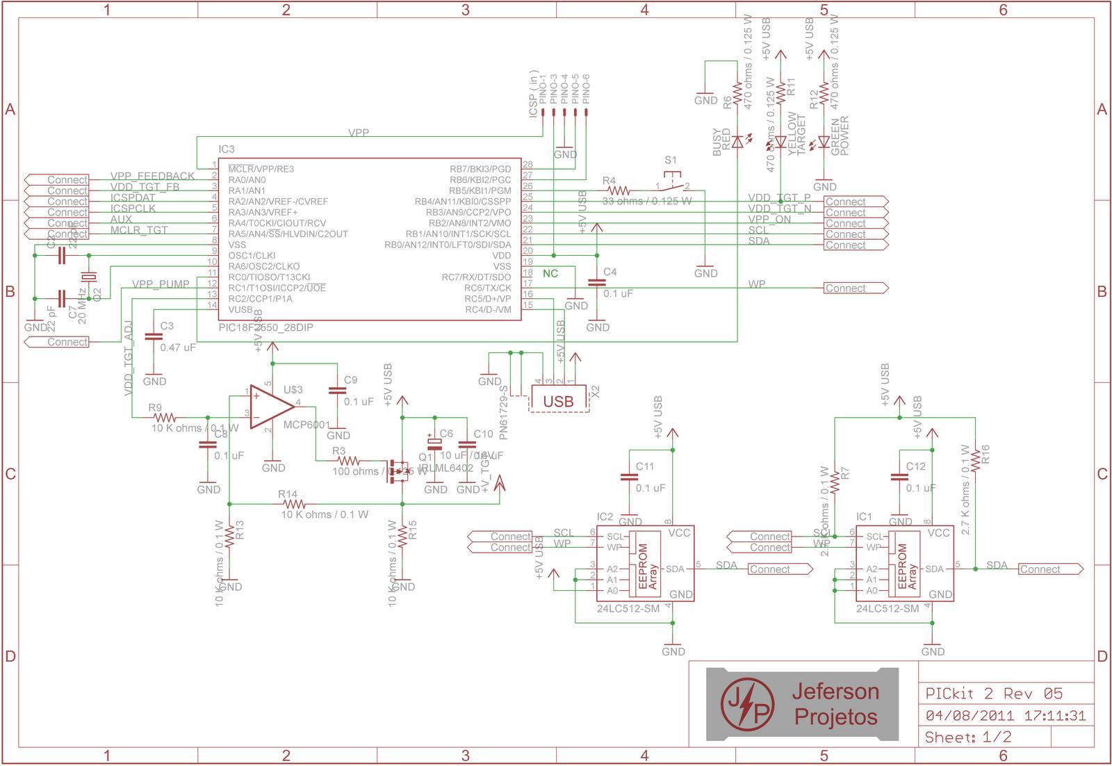 PICkit2_Schematic_pag_01 Pickit Clone Schematic on eeprom programmer schematic, camera schematic, ipad schematic, h bridge schematic, microcontroller schematic, avr schematic, usb schematic, blinking led schematic, eprom programmer schematic, breadboard schematic, arduino schematic,