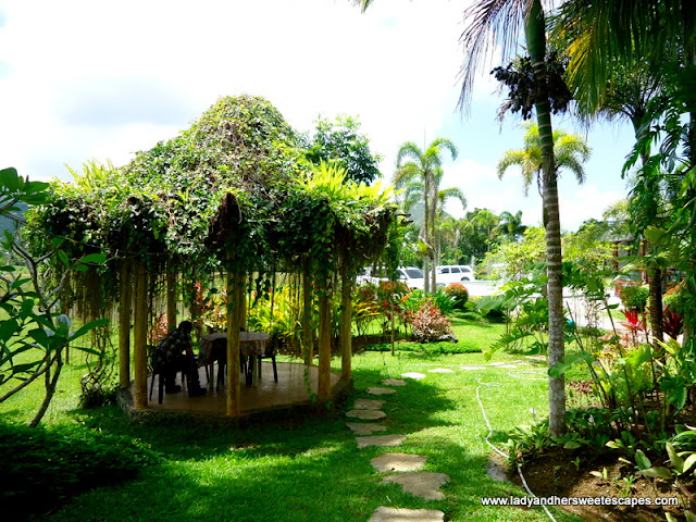 beautiful garden at Rafael's Farm Leyte