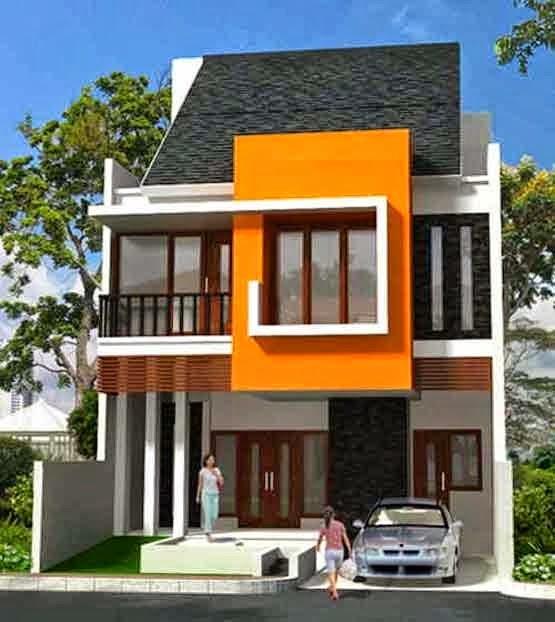 Desain Rumah Tebaru: Desain rumah minimalis 2 lantai type ...