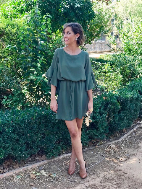 Fitness And Chicness-Vestido Verde Oliva Otoño-6