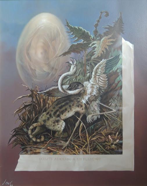 José Marí pintura surrealista arte animales flamenco