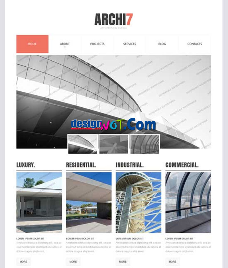 ARCHI7 Responsive HTML WordPress Template