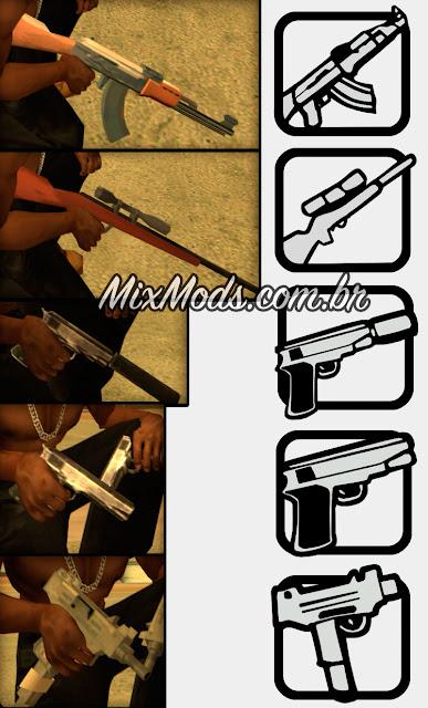 gta sa mod fixed weapons icons