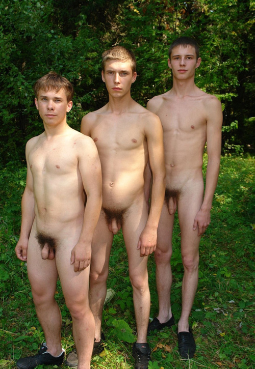 Dad son naked togther