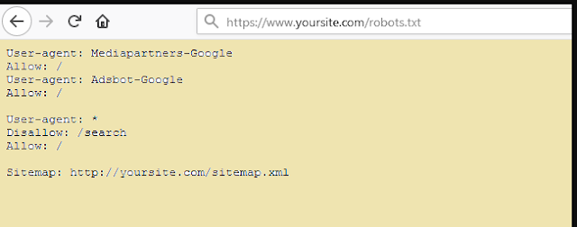 Example of robots txt file