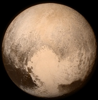 Recent Pluto photograph taken by NASA's New Horizons mission reveals a heart-shaped region