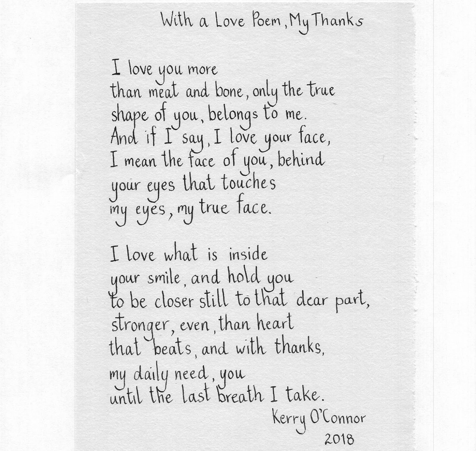 I Love You More Poem: Skywriting: 2018