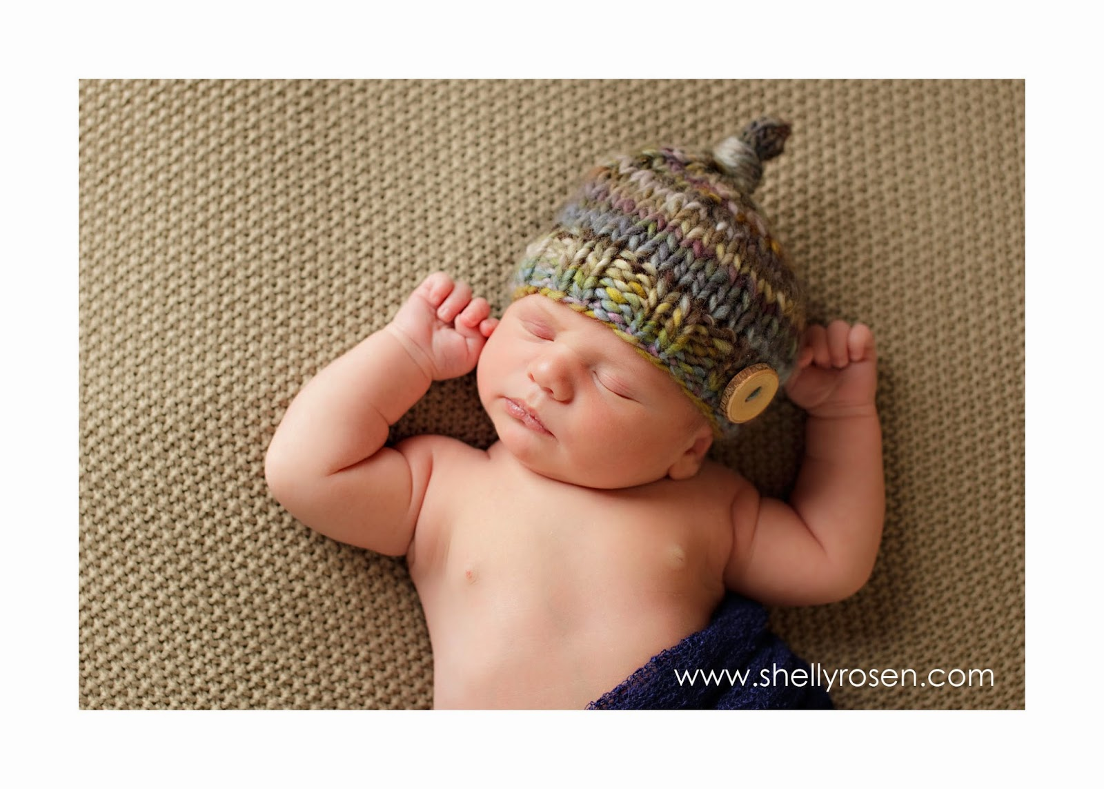 newborn baby top knot hat