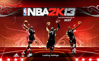 NBA 2K13 Miami Heat's Big 3 Loading Screen Mod