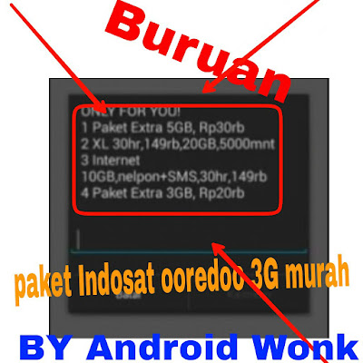 Cara daftar paket internet indosat 3g murah.