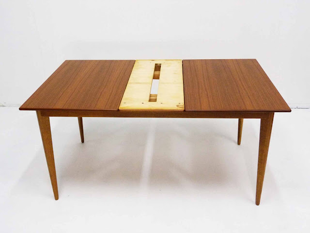 J.O. Carlsson Swedish Teak Draw-Leaf Dining Table Draw-leaf Detail