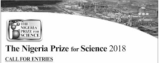 Nigeria LNG (NLNG) Science Prize Calls for Entries - 2018