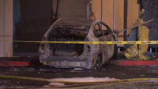 Car Set On Fire-Intentionally Slams Into Defense Contractor Building