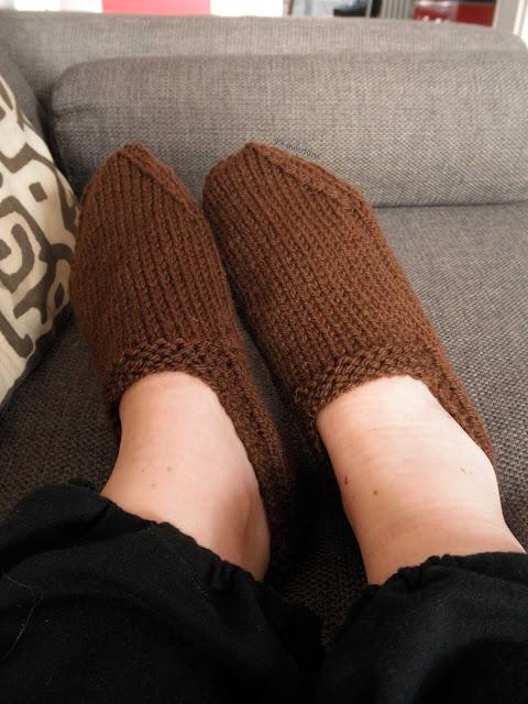chaussons en tricot