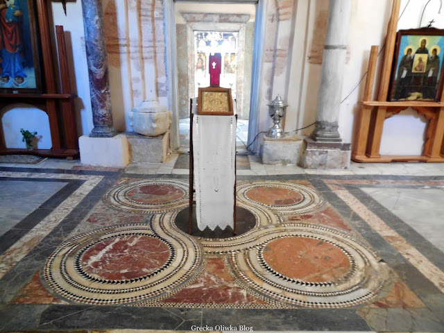 narteks przedionek świątyni Nea Moni Chios Grecja