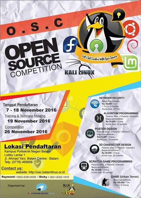 Event Teranyar Open Source Competition (OSC) 2016 Tingkat SMA/SMK/MA Sederajat
