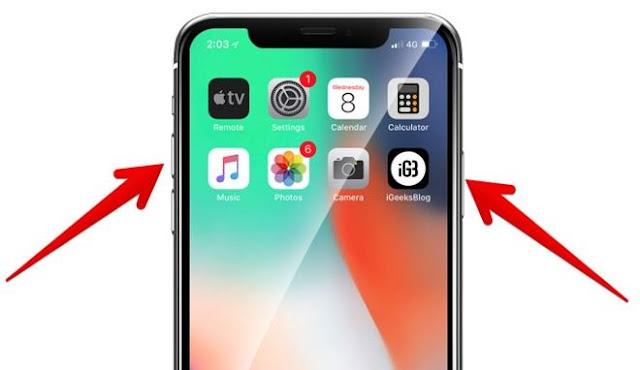 cara restart iPhone X
