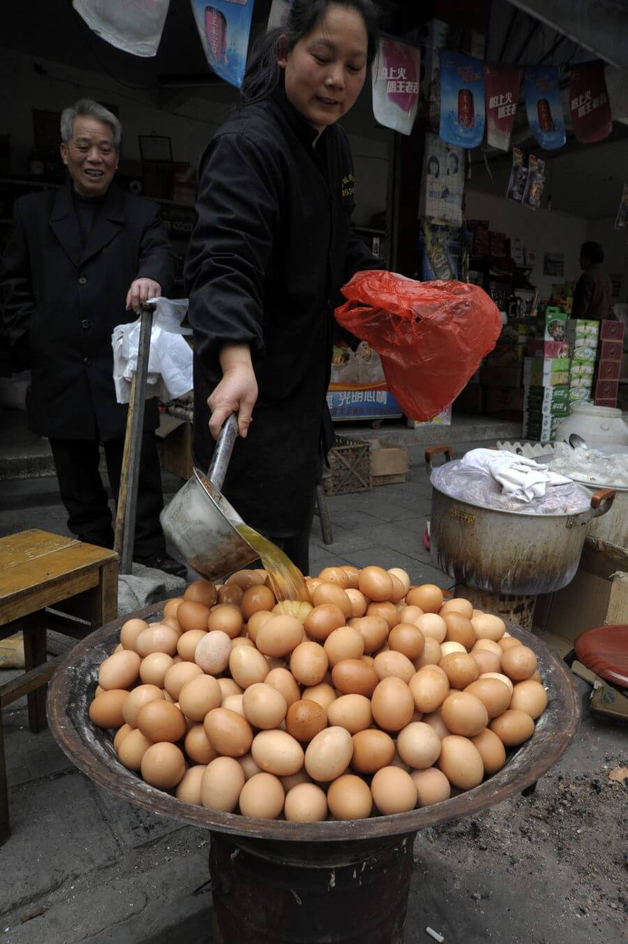 Virgin boy eggs, Dongyang, China
