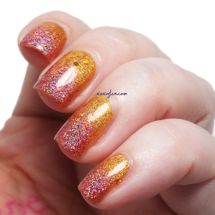 xoxoJen's swatch of Sweet Heart Polish Gradient