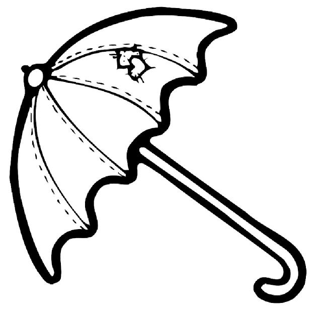 Gambar Mewarnai Payung - 4