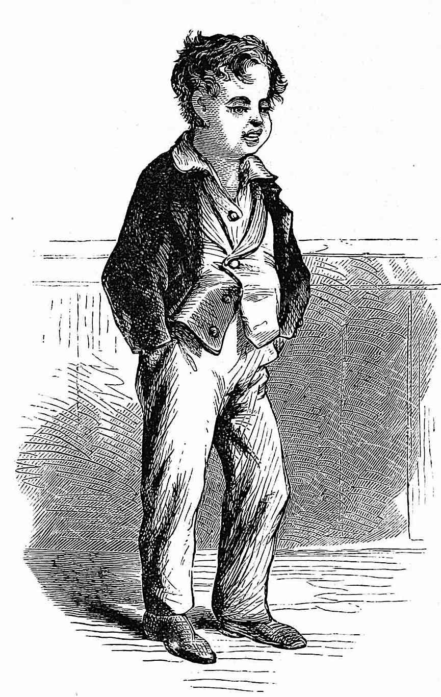 1872 boys fashion, an illustrustration of a typical sloppy kid