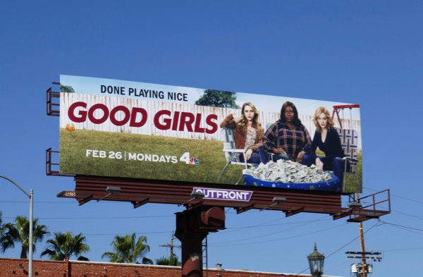 Good Girls series premiere billboard
