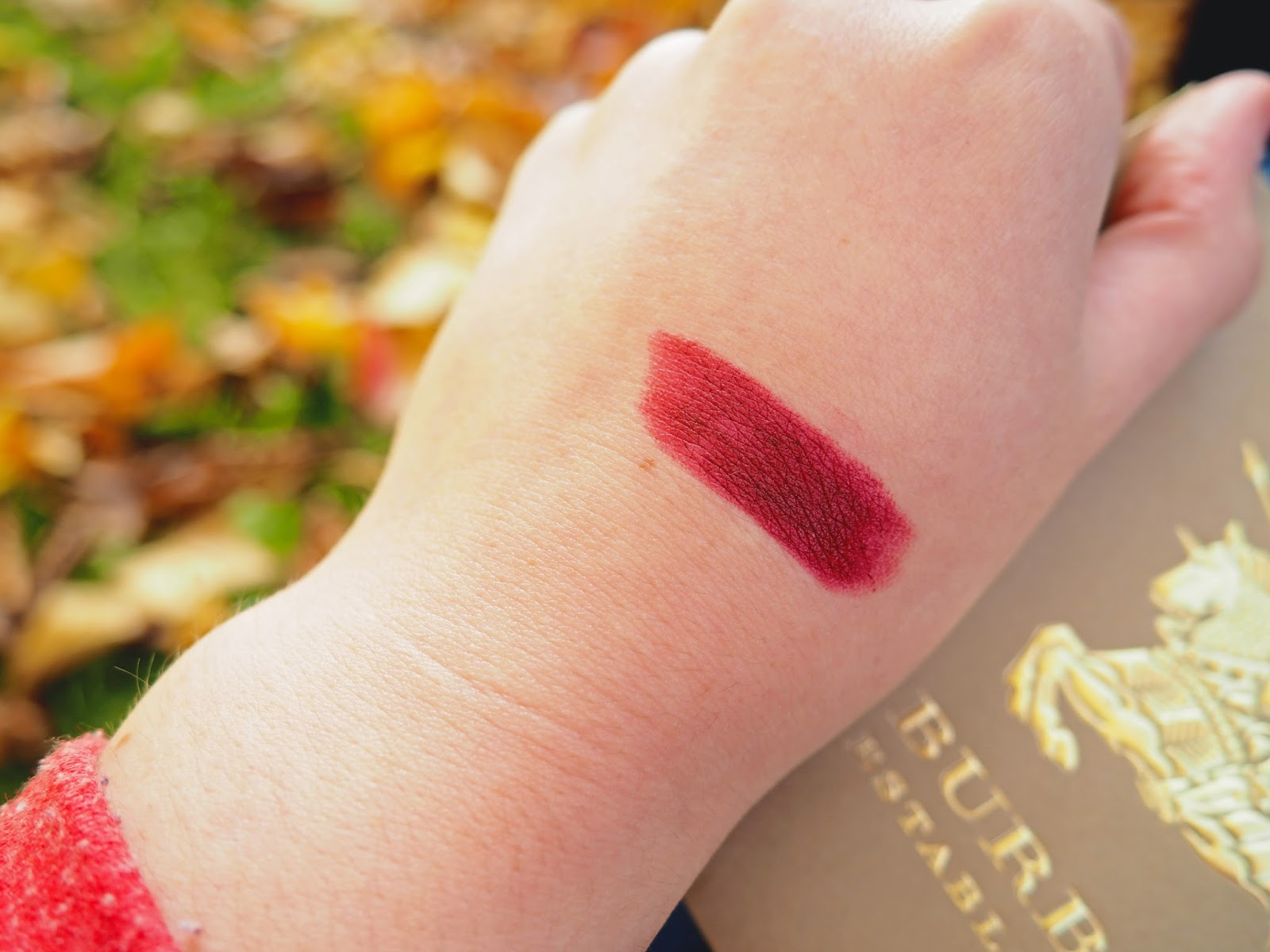 Burberry Lip Velvet Oxblood Review Swatch
