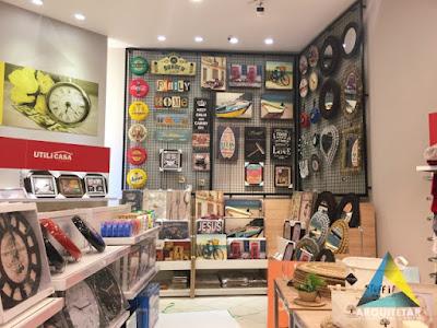projeto arquitetura loja decoração quadros paredes expositor