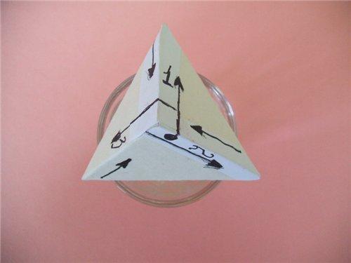tetraedro, berlingot, manualidades, técnicas