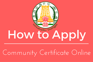 Apply Community Certificate Tamil Nadu
