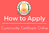 How to Apply Community Certificate Online in Tamilnadu