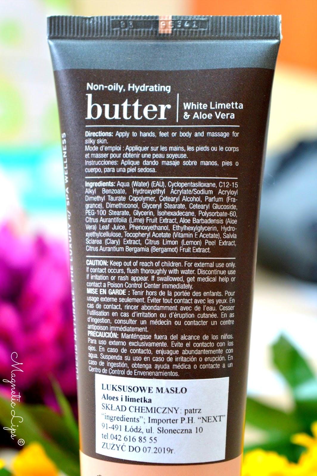 spa masło ręce