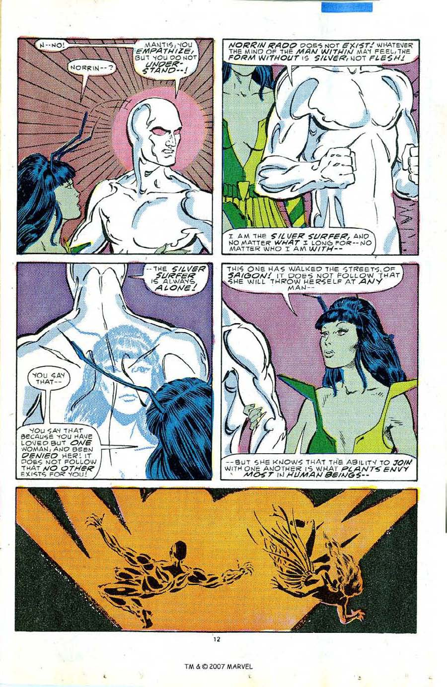 Read online Silver Surfer (1987) comic -  Issue #5 - 17