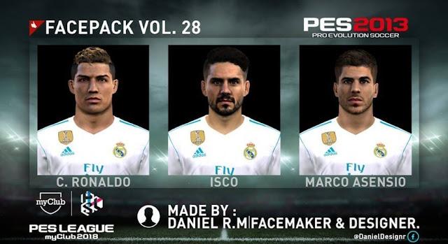 Facepack Vol. 28 PES 2013