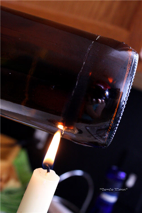 Condo blues how to cut a glass bottle with hot water for How to cut a bottle with fire