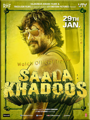 Poster Of Bollywood Movie Saala Khadoos (2016) 100MB Compressed Small Size Mobile Movie Free Download movies365.in