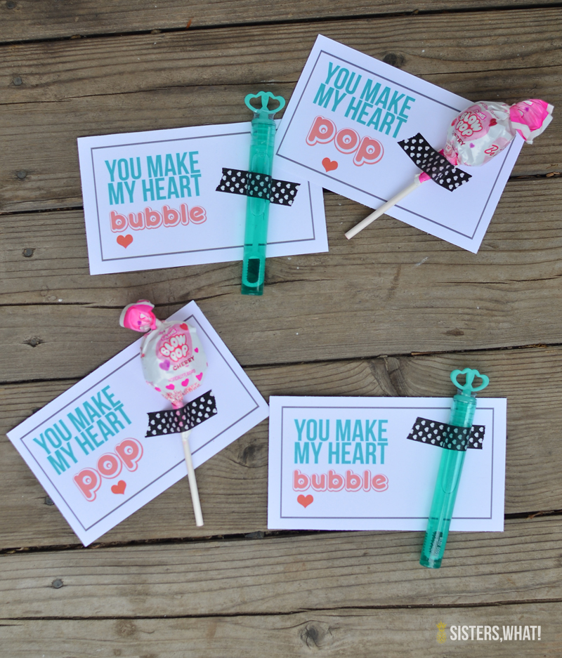 you make my heart pop and you make my heart bubble valentine printable
