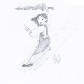 Disney Illustration Study by Jo Linsdell, Mulan