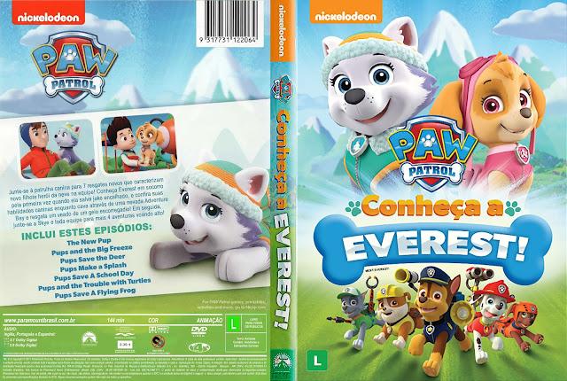 Capa DVD Paw Patrol Conheça A Everest