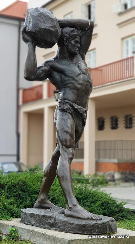 Warszawa Warsaw Stanisław Czarnowski rzeźba pomnik 1908 Gnojna Góra Brzozowa Stare Miasto