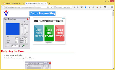 http://www.functionx.com/bcb/applications/colorformat.htm