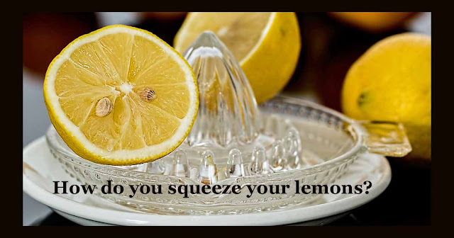 How do you squeeze your lemons?