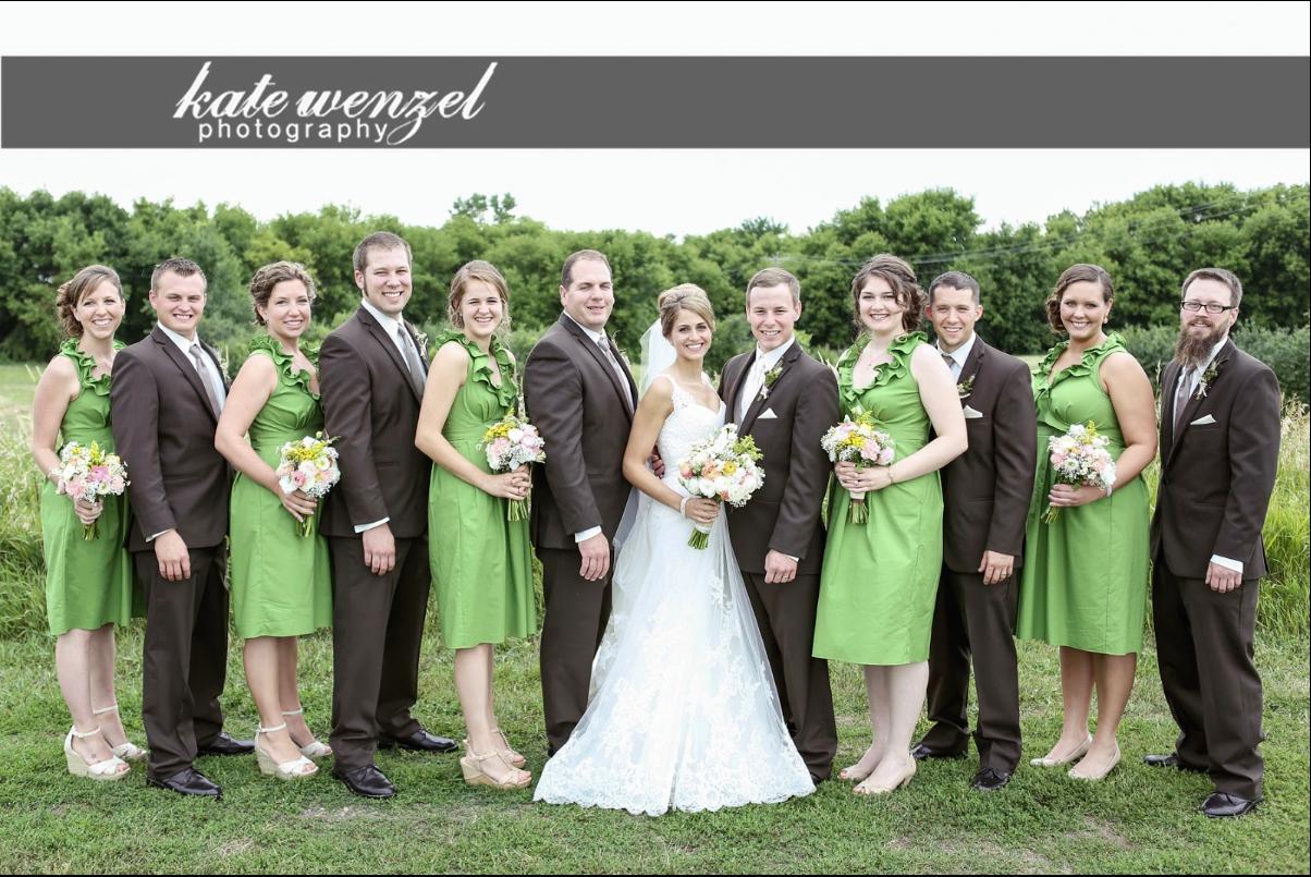 Independent Designer: Real Wedding: Grass Green Ruffle